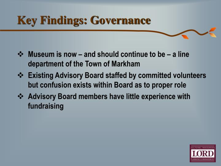 Key Findings: Governance