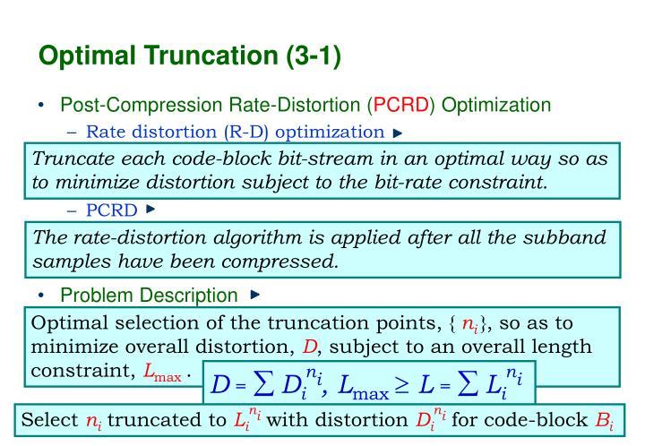 Optimal Truncation (3-1)