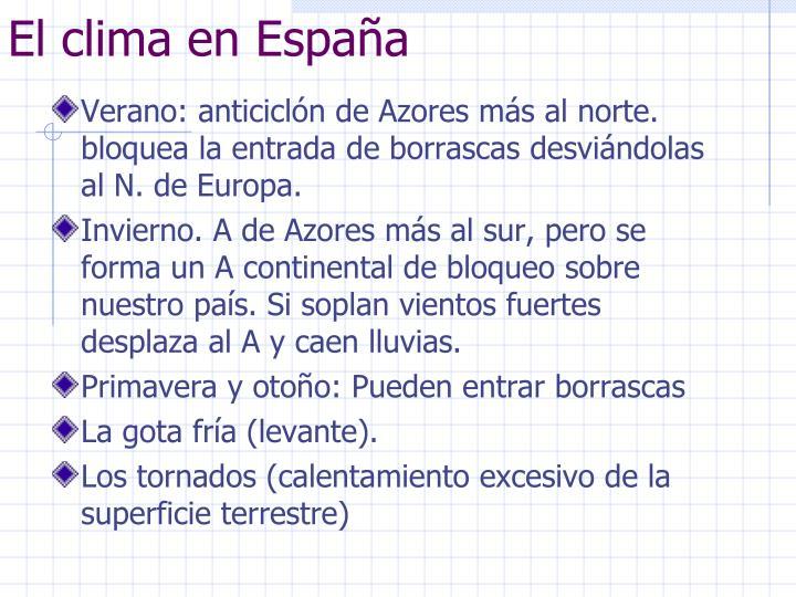 El clima en Espaa