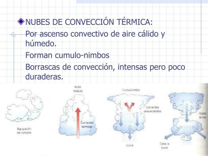 NUBES DE CONVECCIN TRMICA: