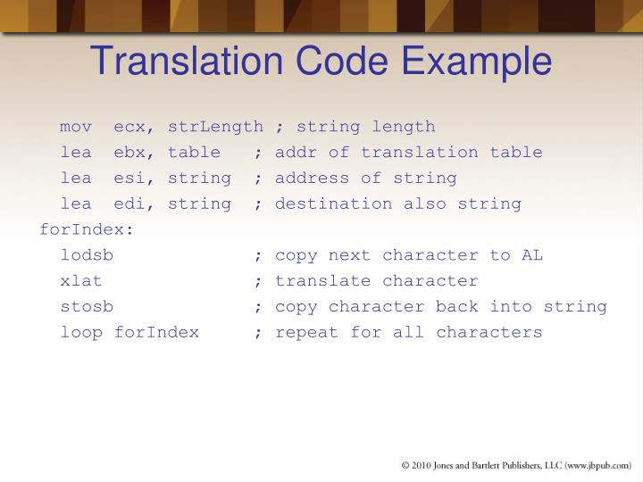 Translation Code Example