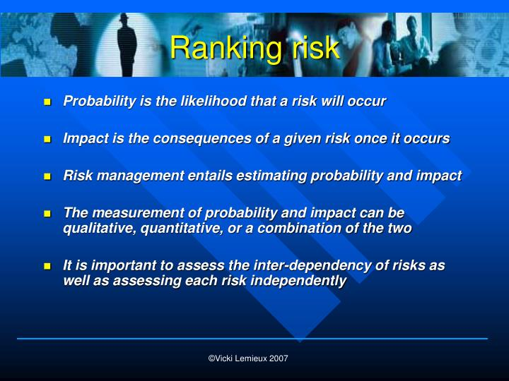 Ranking risk