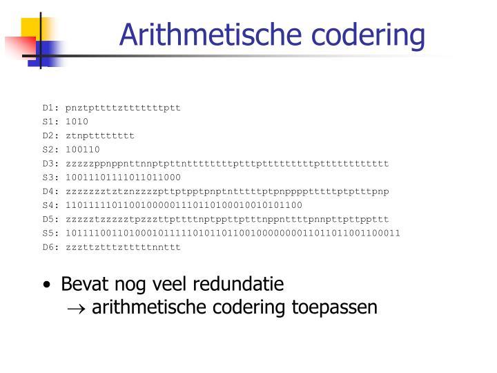 Arithmetische codering