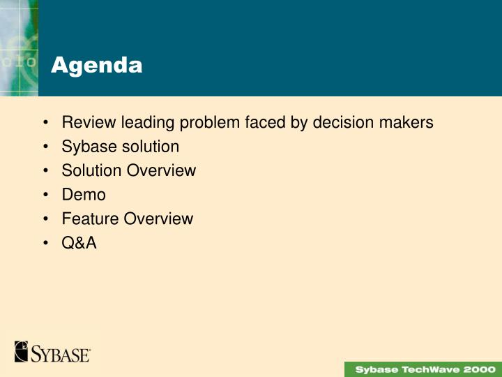 Review leading problem faced by decision makers