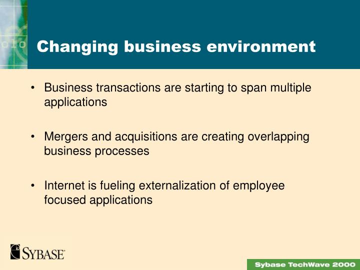 Business transactions are starting to span multiple applications