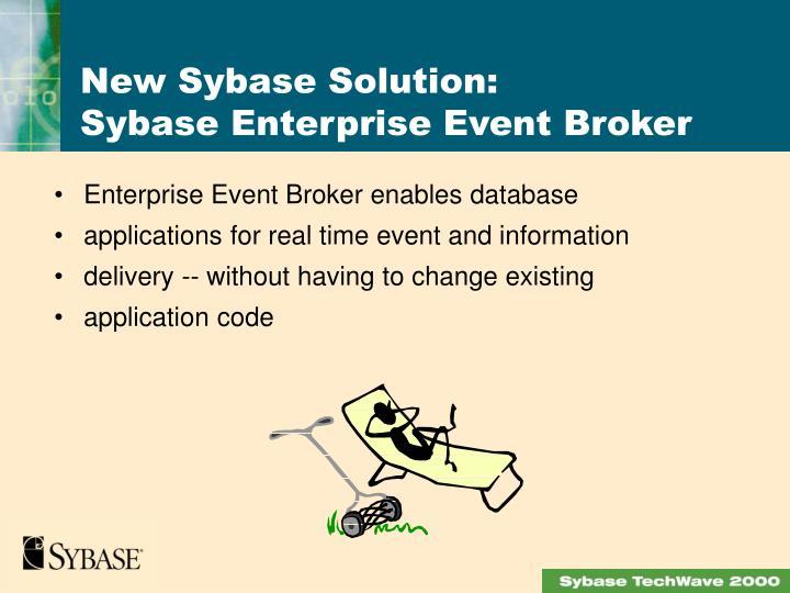 Enterprise Event Broker enables database