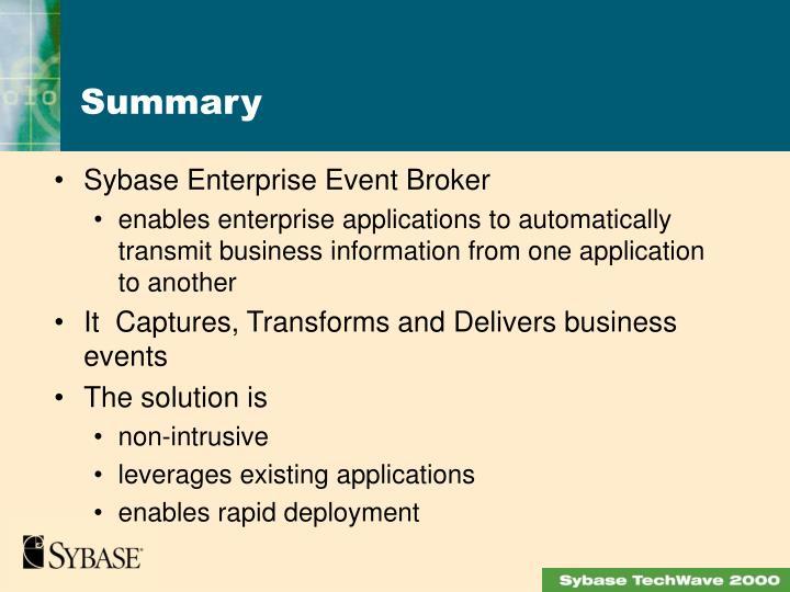 Sybase Enterprise Event Broker