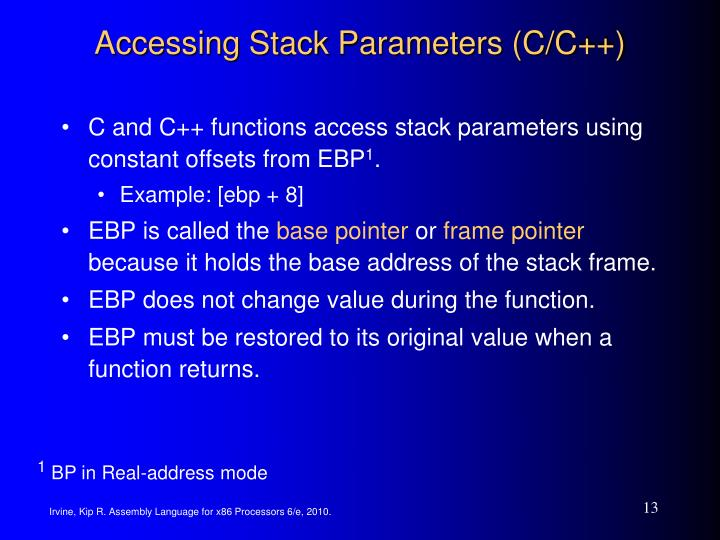 Accessing Stack Parameters (C/C++)