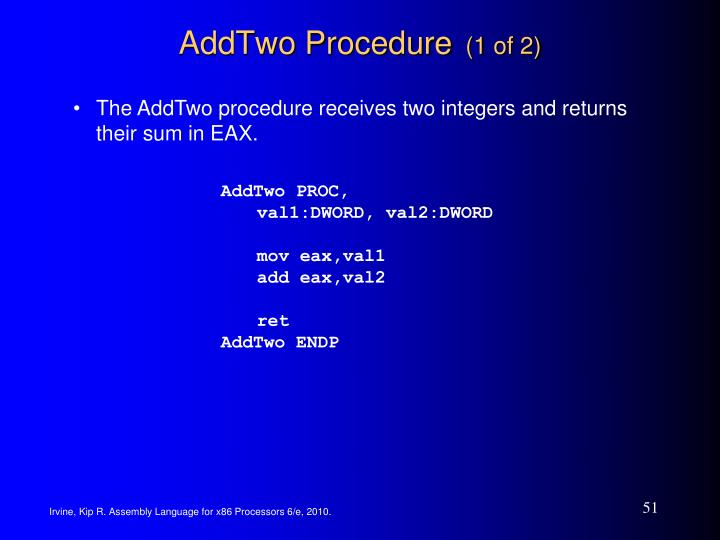 AddTwo Procedure