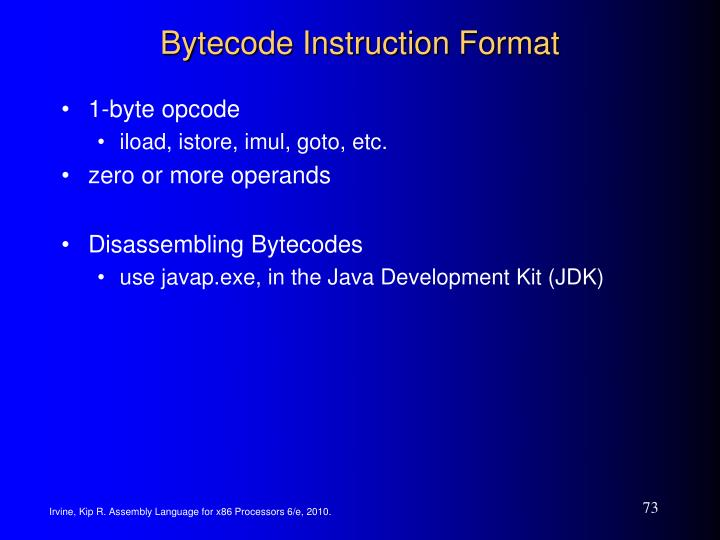 Bytecode Instruction Format
