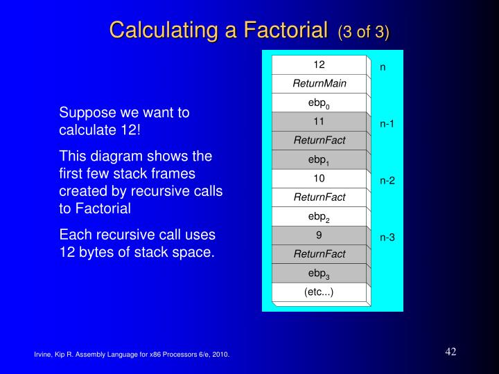 Calculating a Factorial
