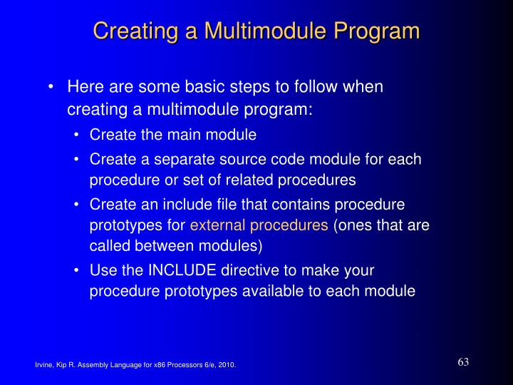 Creating a Multimodule Program