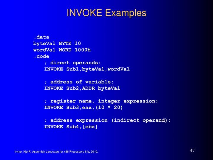 INVOKE Examples