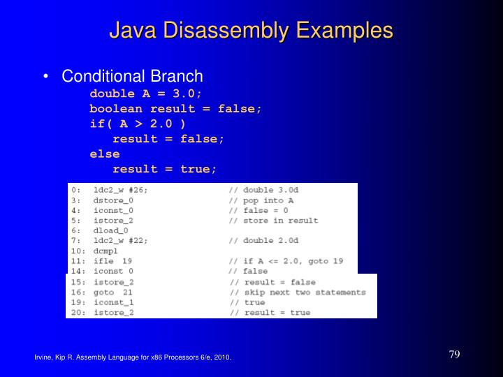 Java Disassembly Examples