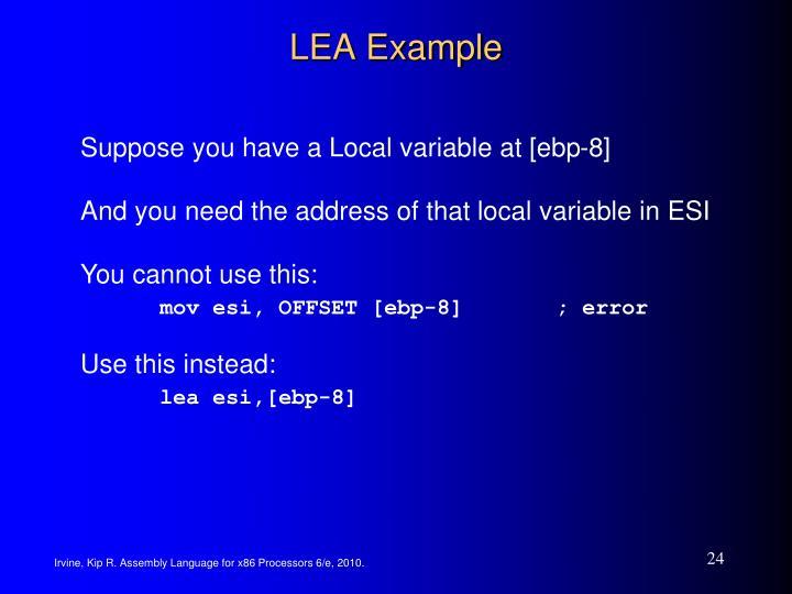 LEA Example