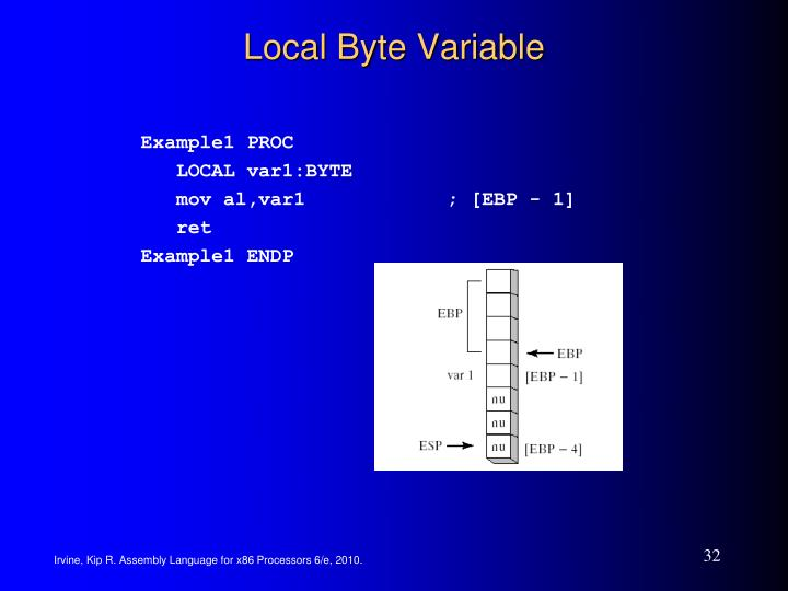 Local Byte Variable