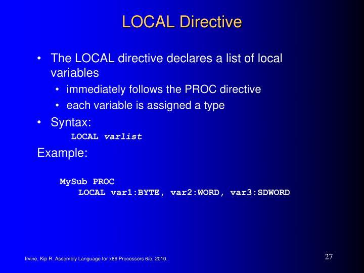 LOCAL Directive