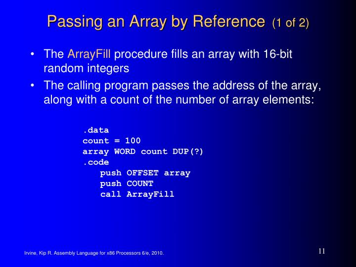 Passing an Array by Reference