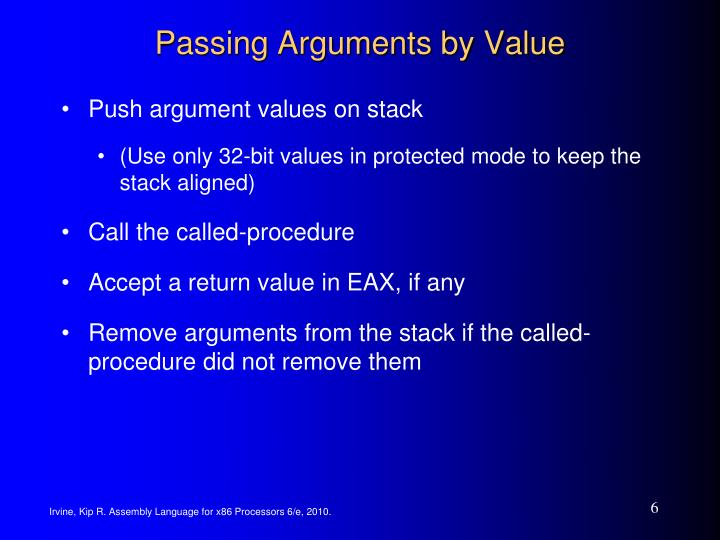 Passing Arguments by Value