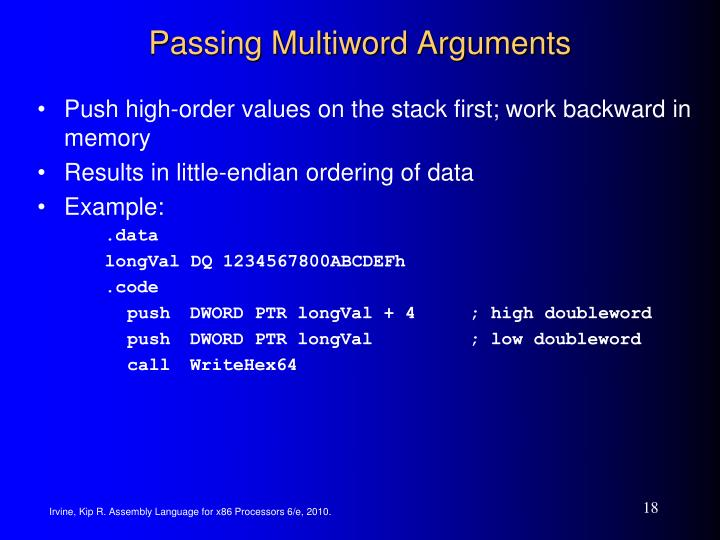 Passing Multiword Arguments