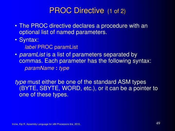 PROC Directive