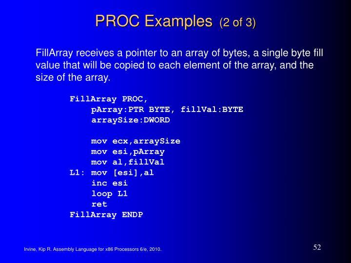 PROC Examples