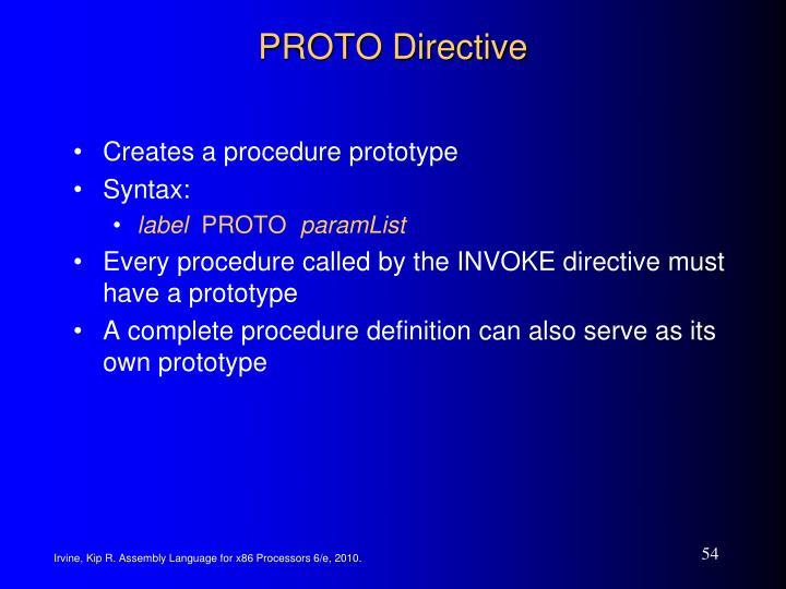 PROTO Directive