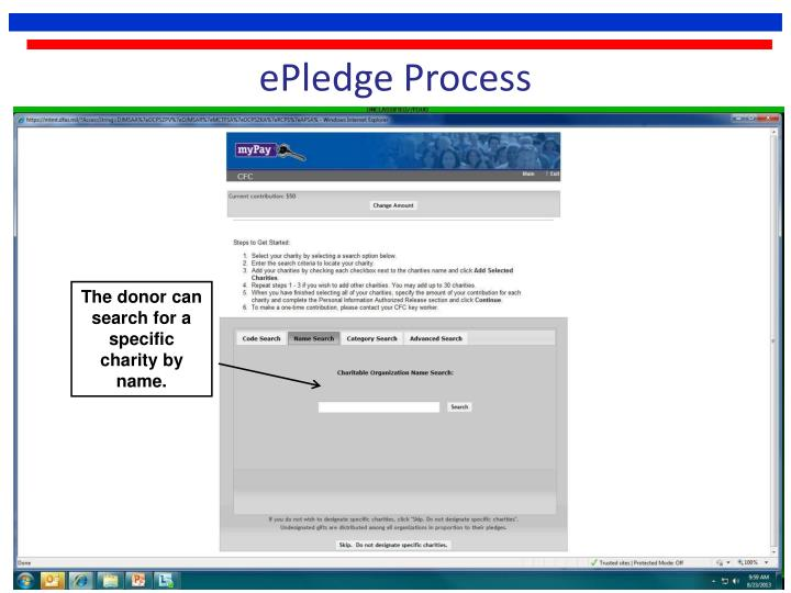 ePledge Process