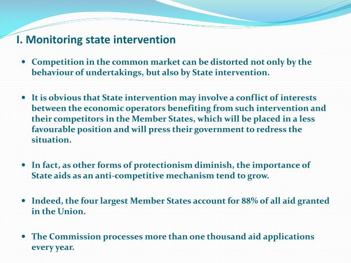 I monitoring state intervention