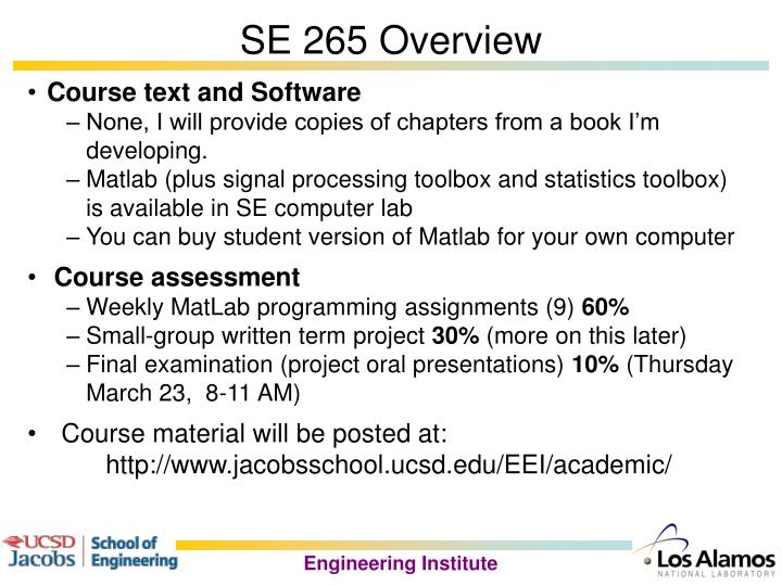 Se 265 overview