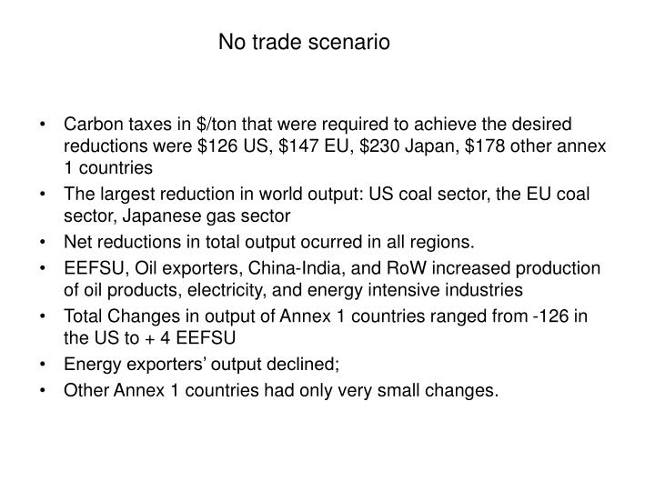 No trade scenario
