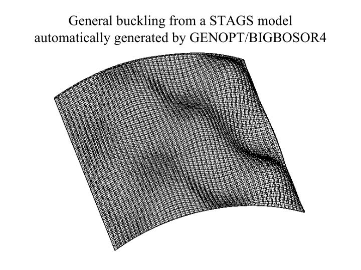 General buckling from a STAGS model automatically generated by GENOPT/BIGBOSOR4