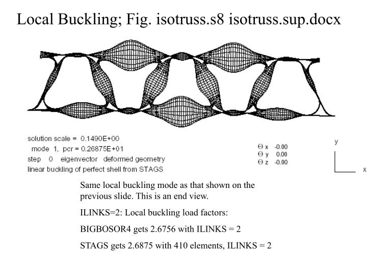 Local Buckling; Fig. isotruss.s8 isotruss.sup.docx