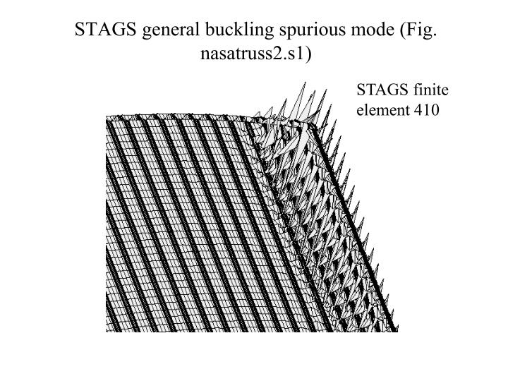 STAGS general buckling spurious mode (Fig. nasatruss2.s1)