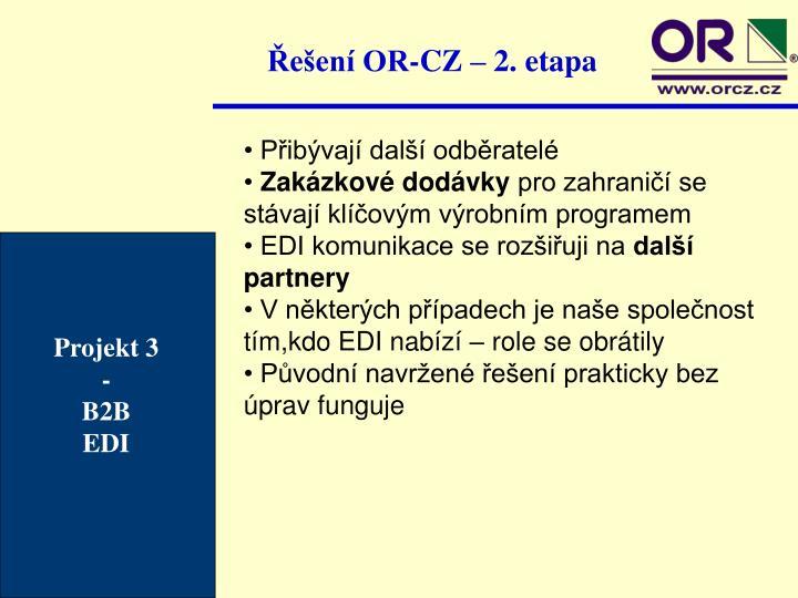 Řešení OR-CZ – 2. etapa