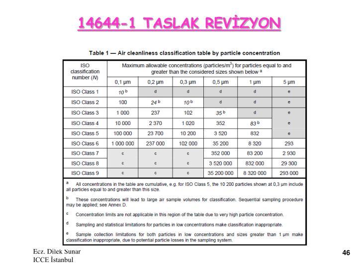 14644-1 TASLAK REVİZYON