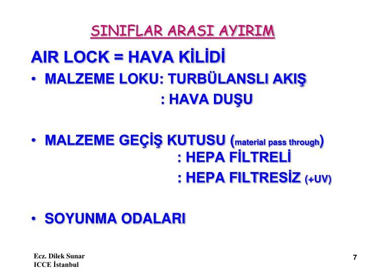 SINIFLAR ARASI AYIRIM