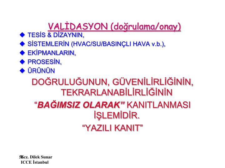 VALİDASYON