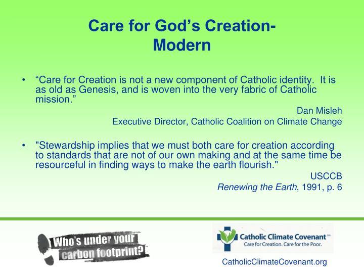 Care for God's Creation-                         Modern