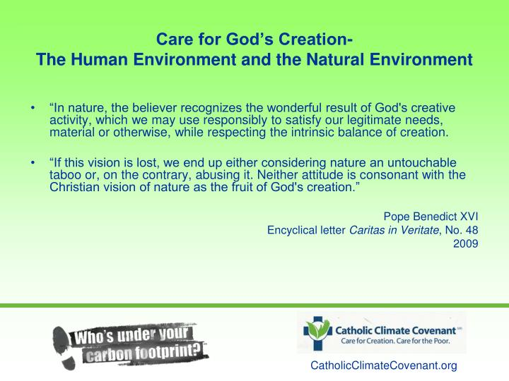 Care for God's Creation-