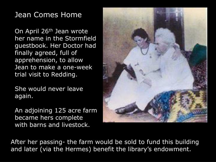Jean Comes Home
