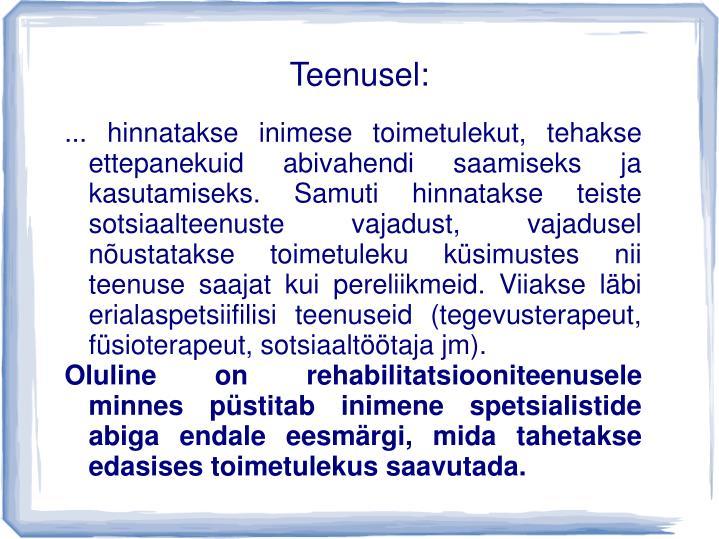 Teenusel: