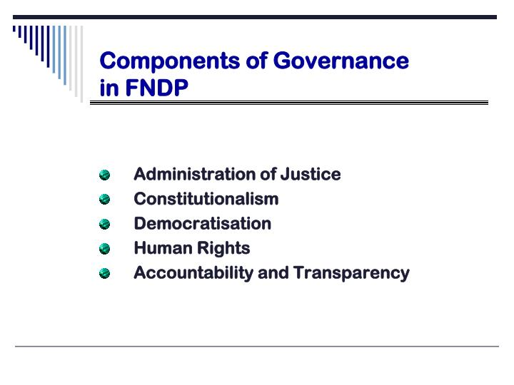 Components of Governance