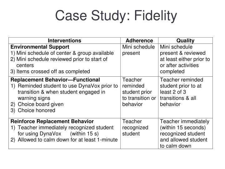 Case Study: Fidelity