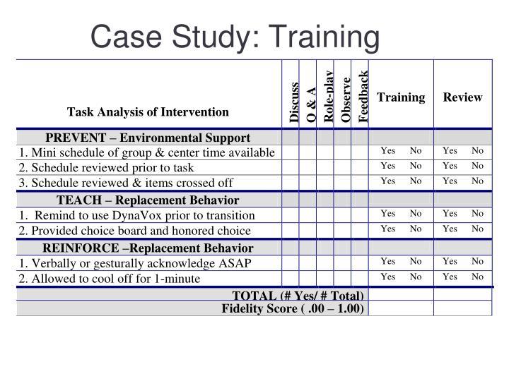 Case Study: Training