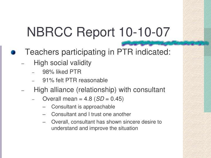 NBRCC Report 10-10-07