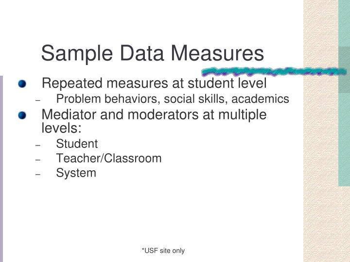 Sample Data Measures