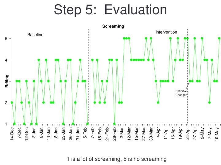 Step 5:  Evaluation