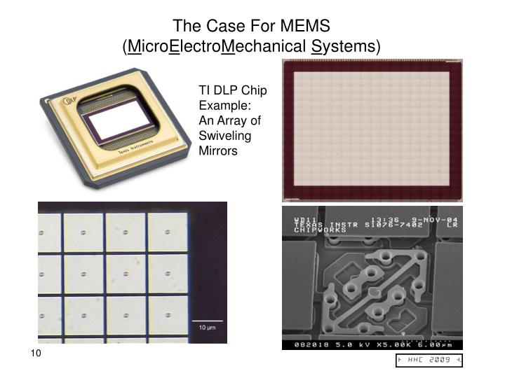 The Case For MEMS