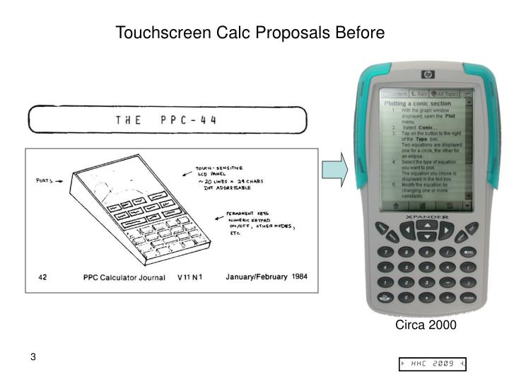 Touchscreen Calc Proposals Before